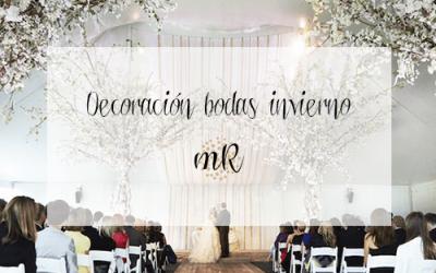 Ideas de decoración para bodas en invierno